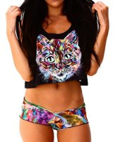 Iheartraves meow rave crop top at amazon women's clothing store: