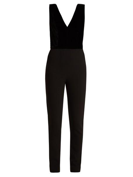 Elie Saab jumpsuit velvet black