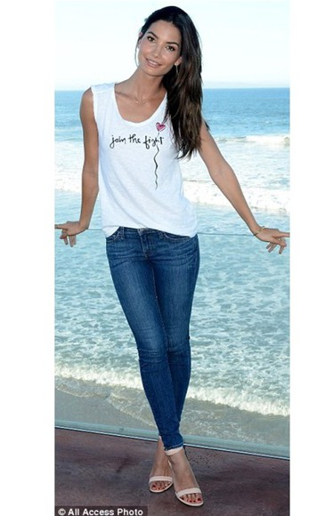 shoes sandals jeans top high heels lily aldridge