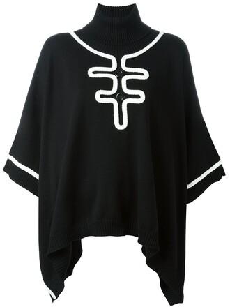 cape knit black top
