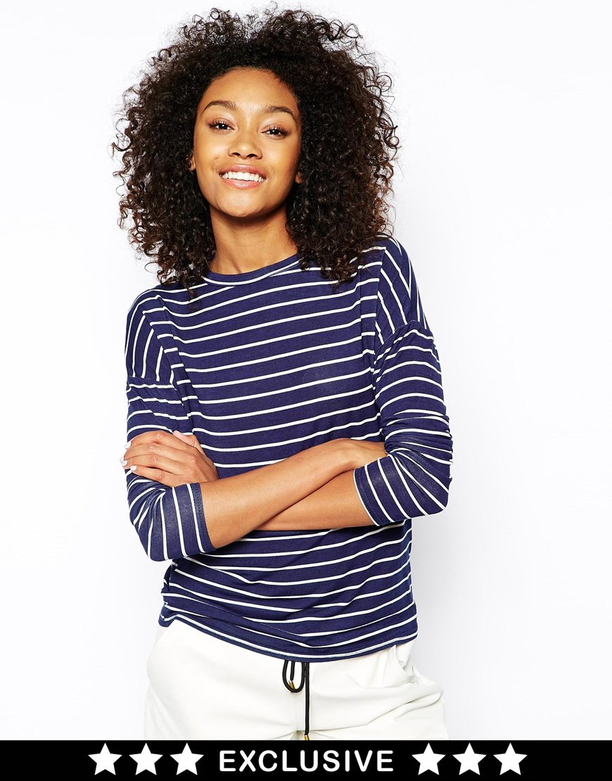 Daisy Street Slubby T Shirt in Stripe at asos.com