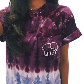 shirt tie dye fashion style purple trendy cool summer musheng