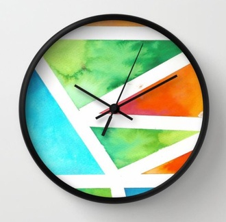 home accessory clock style fashion tye dye shirt tie dye orange green home decor blue water cool fucking awsome