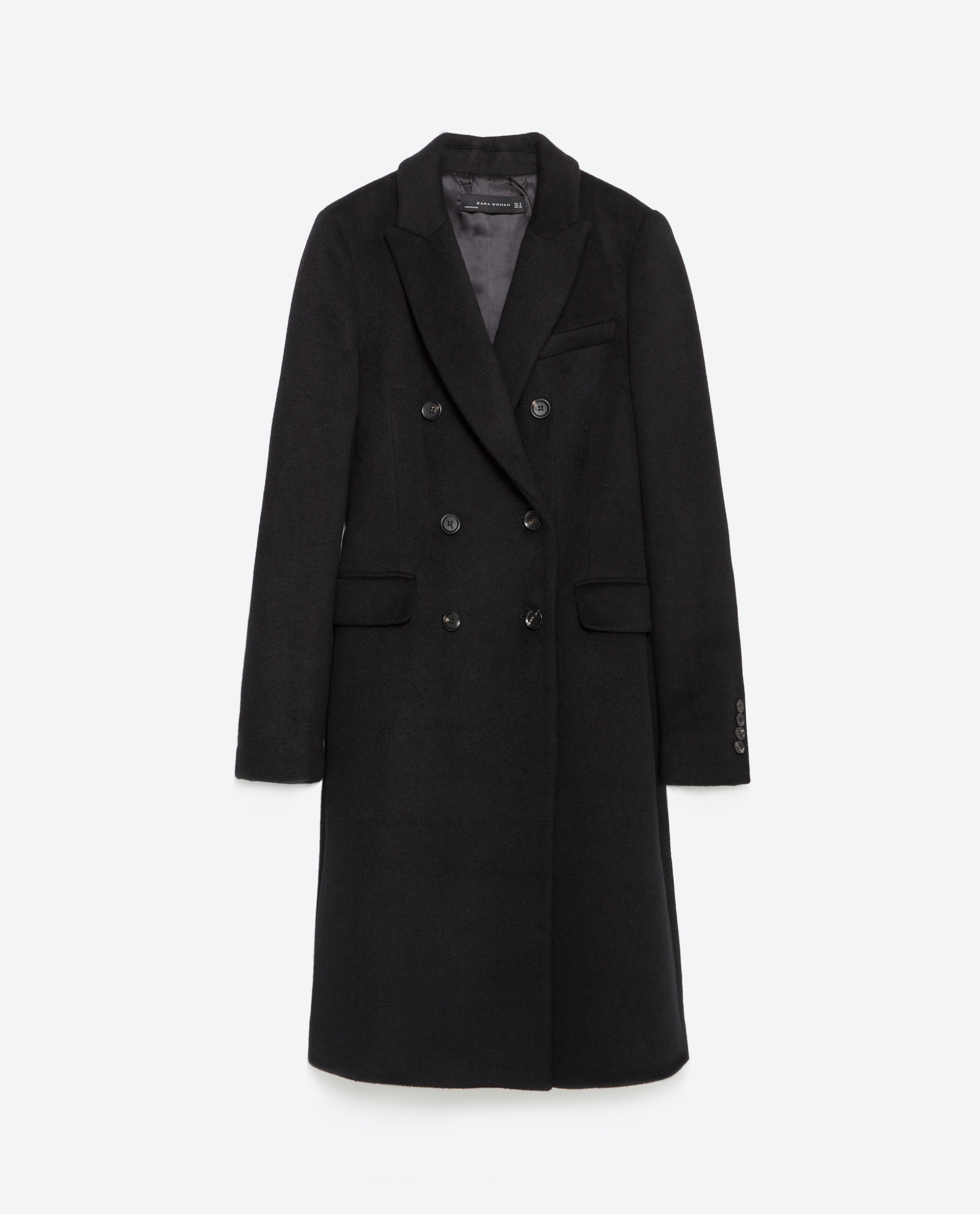2020 authentic wholesale price DOUBLE BREASTED LAPEL COAT - Wool - Premium - WOMAN | ZARA United States
