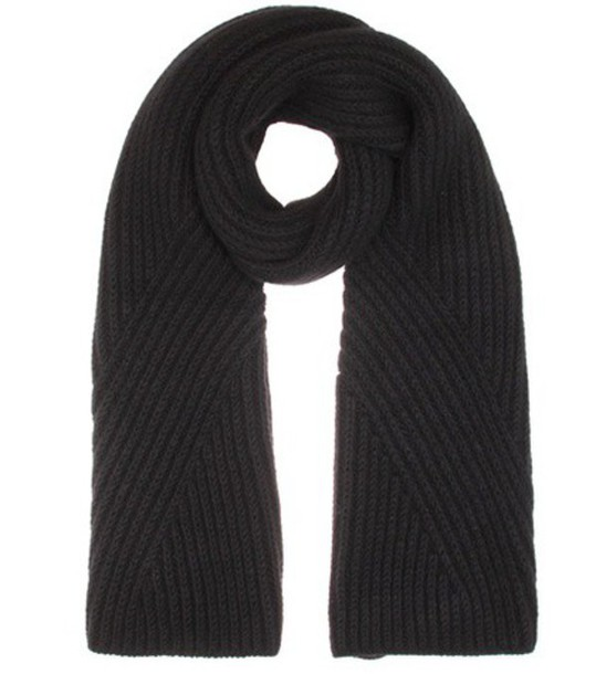 Acne Studios Hana  Knitted Wool And Mohair-blend Scarf in black