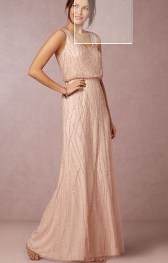 dress long formal champagne formal dress prom dress bridesmaid blush pink sparkly dress evening dress