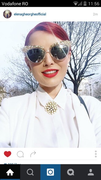 sunglasses instagram white red mirrored sunglasses