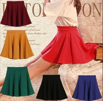 skirt red skirt blue skirt black skirt yellow skirt green skirt