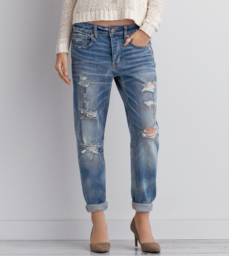 Tomgirl Jean, Abraded Blue | American Eagle Outfitters