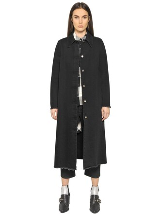 jacket denim jacket denim long cotton black