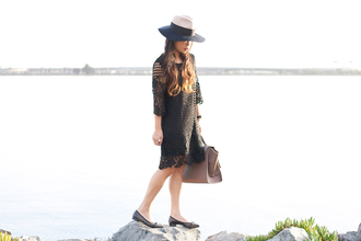 blogger bag jewels it's not her it's me hat flats black dress