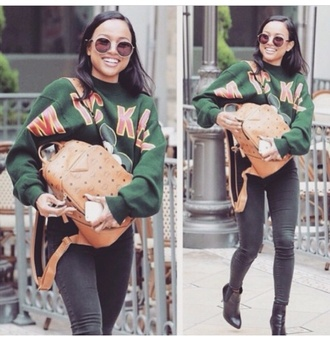 sweater mickey mouse green disney karrueche instagram bag sunglasses pants