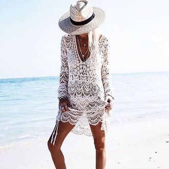swimwear le salty label crochet dress crochet dress lace dress cover up swim coverup crochet coverup white lace coverup beach boho chic australian