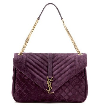 bag shoulder bag suede purple
