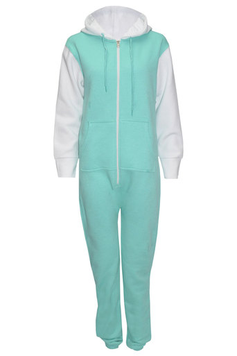 Ladies Piper Two - Tone Onesie In Mint | Pop Couture