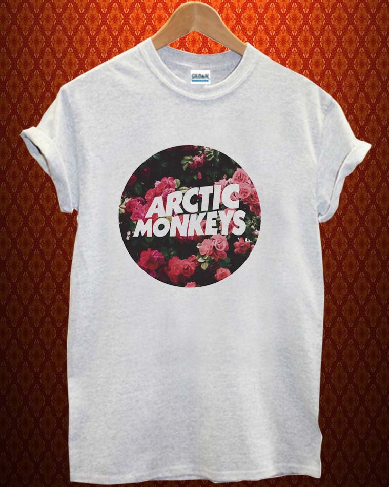 c94df2d4 arctic monkey flower Music tee Ash Grey t Shirt Men and Women T Shirt more  size available