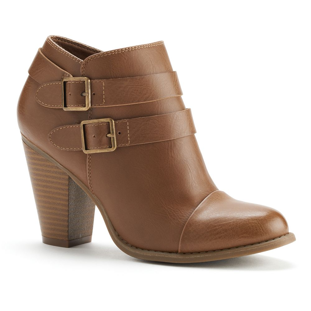 Lc lauren conrad two buckle ankle boots