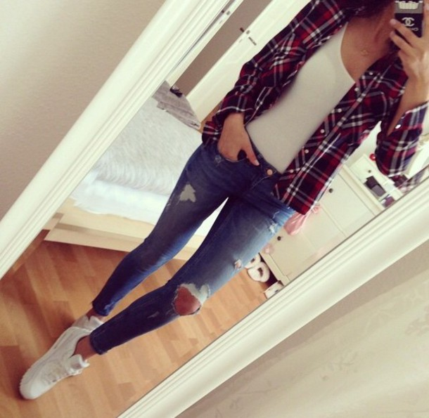 Checkered shirt for girls tumblr