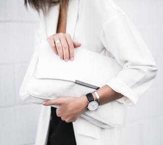 white bag bag purse clutch white clutch clutch