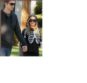 sweater bones skeleton black ashley tisdale