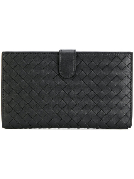 Bottega Veneta - woven leather purse - women - Nappa Leather - One Size, Black, Nappa Leather