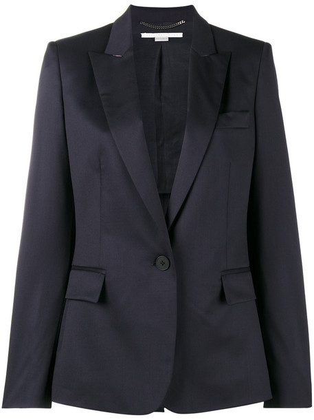blazer women cotton blue wool jacket