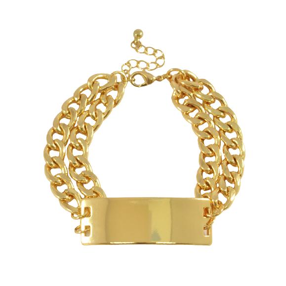 Double chunky chain bracelet