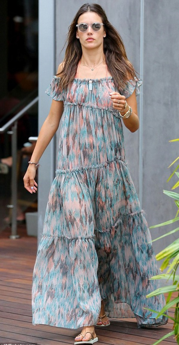 dress maxi dress alessandra ambrosio shoes