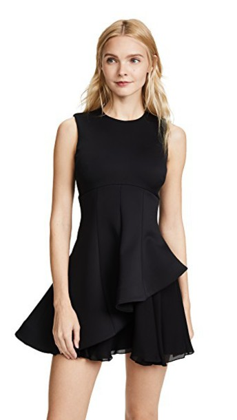 cushnie et ochs dress flare dress flare fit black