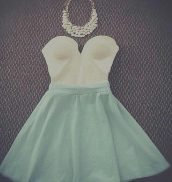 dress blue dress blue skirt white dress white top cute outfits skirt