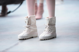 shoes kanye west fashion week 2015 duck boots adidas