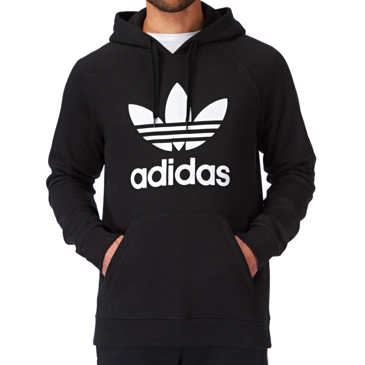 adidas originals original trefoil hoody black. Black Bedroom Furniture Sets. Home Design Ideas