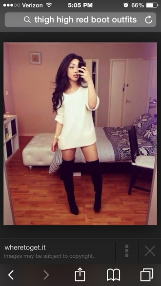 top white loose fit sweater long sleeves sweater tunic dress shoes