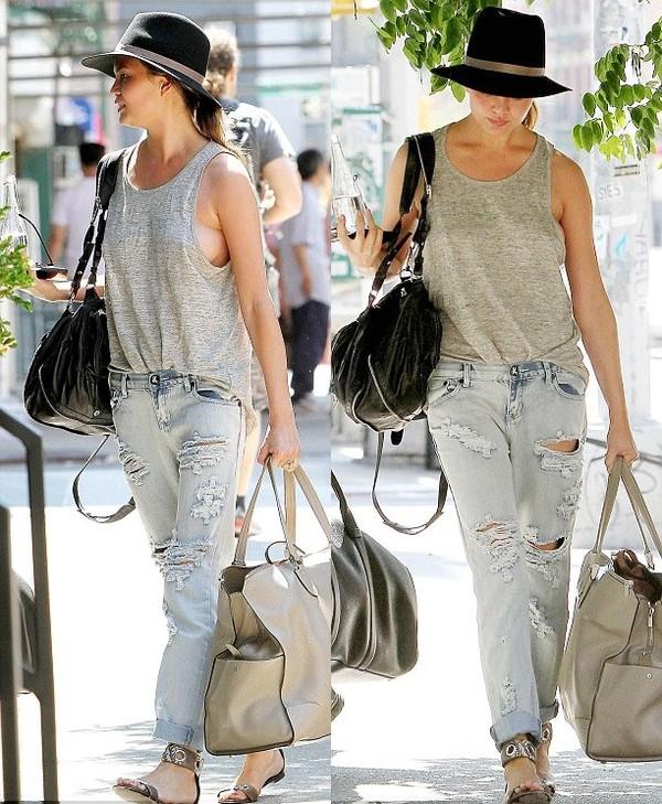 jeans chrissy teigen hat