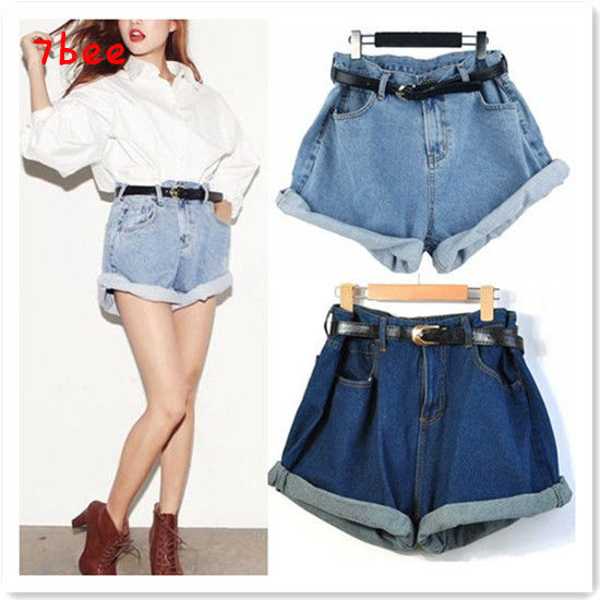 Korean Fashion Women High Waisted Oversize Boyfriend Casual Jeans