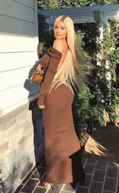 dress,kylie jenner,kardashians,bodycon dress,instagram,brown,brown dress