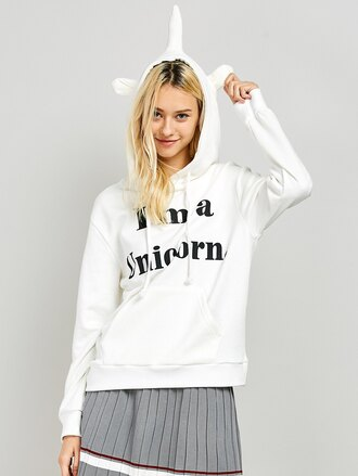 sweater fashion casual long sleeves quote on it white trendy fall outfits unicorn zaful