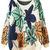 ROMWE | Colorful Leaves Print Kinted Orange Jumper, The Latest Street Fashion
