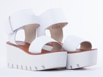 shoes white terrace windsor smith velcro leather white terrace sandals platform shoes windsor smith shoes