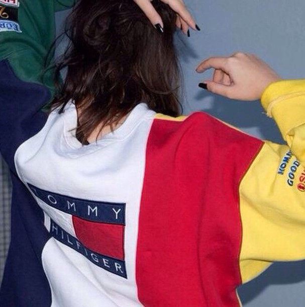 yellow red sweater blue sweater yellow sweater green sweater white sweater hipster clasic classy grunge grunge sweater tommy hilfiger jacket top sweater crewneck vintage tumbr tommy hilfiger tommytommy girl red blue white sweatshirt tommy hilfiger sweater logo jumper yellow red blue and green