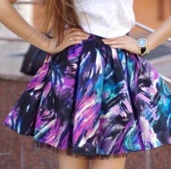 pattern skirt colours