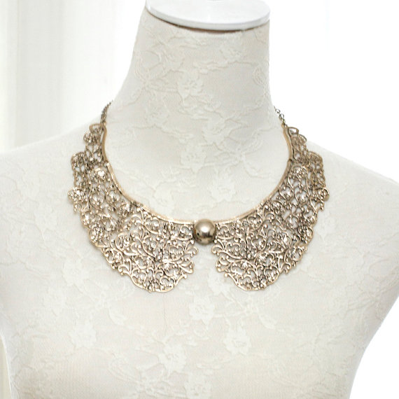 Elegannce statement necklace elegance cocktail par miadressshop