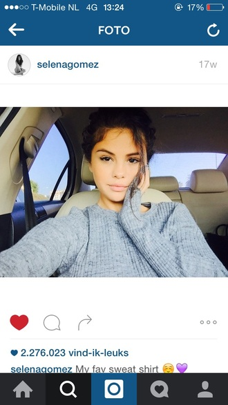 sweater selena gomez grey sweater