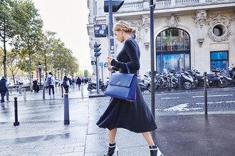 look de pernille blogger dress hugo boss blue  bag