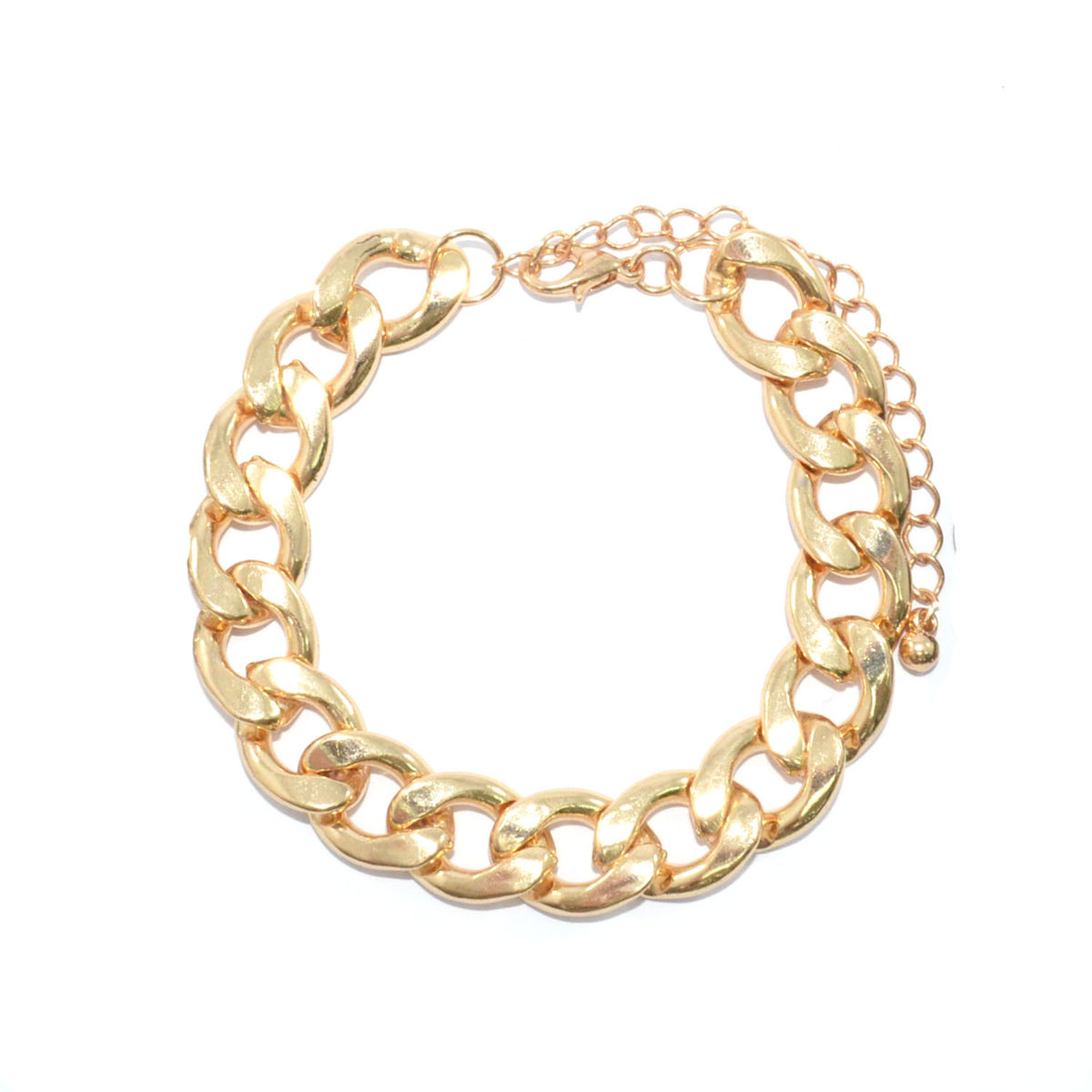 METALLIC CHUNKY CHAIN BRACELET - Rings & Tings | Online fashion store | Shop the latest trends