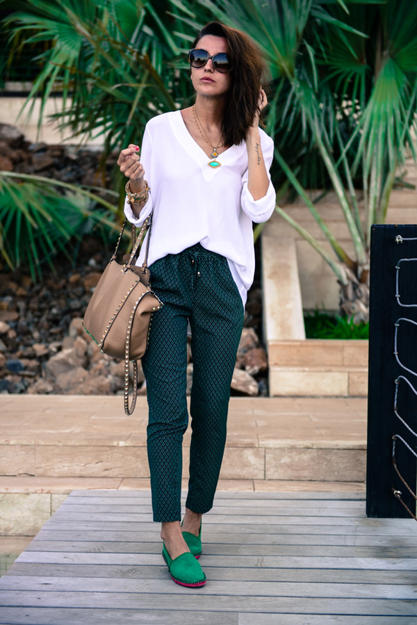 lovely pepa pants shirt bag shoes jewels sunglasses