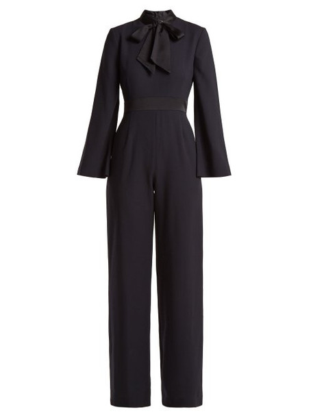 Goat - Gypsy Wool Crepe Jumpsuit - Womens - Navy