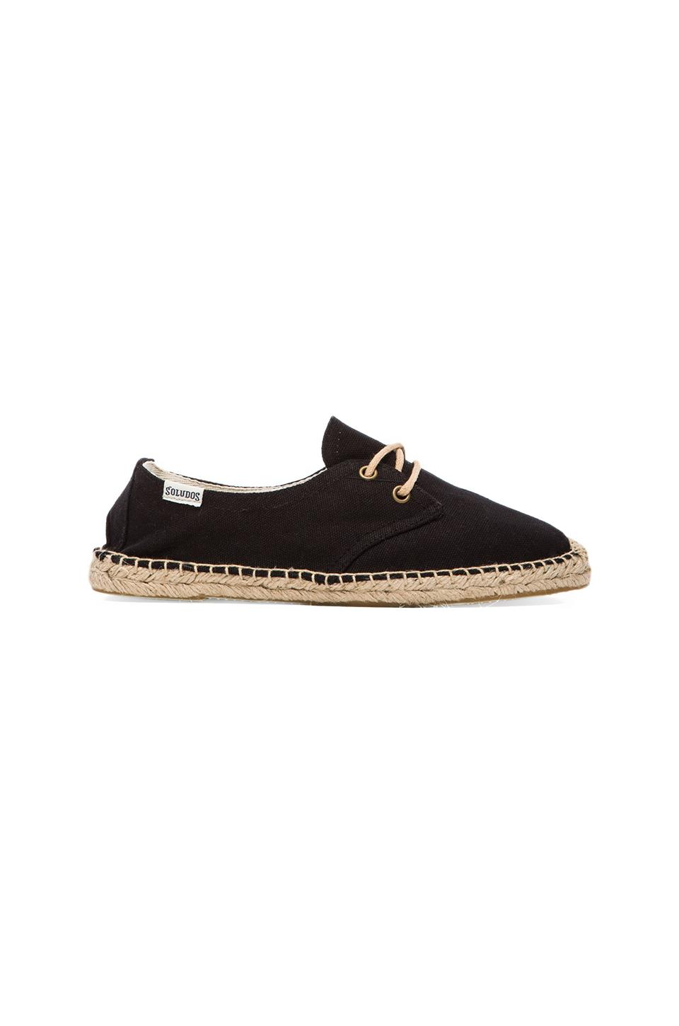 Soludos Canvas Derby Lace Up in Black from REVOLVEclothing.com
