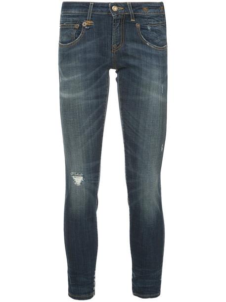 R13 jeans skinny jeans women spandex cotton blue