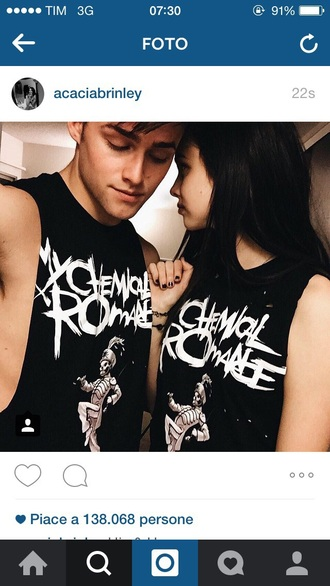 my chemical romance acacia brinley muscle tee